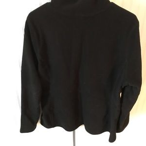 Black full zip fleece